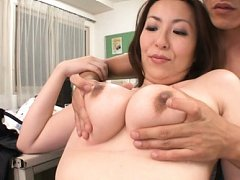 Chisato Shohda Asian and dame have big boobs touch...