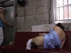 Yurie Matsushima Asian has legs spread and gets vi...