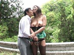 Noriko Igarashi Asian with big nude boobs has ass...