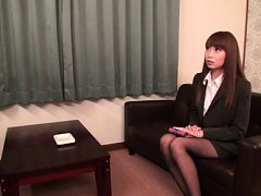 Japanese AV Model touches cunt and takes clothes o...