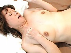Japanese AV Model has snatch licked from behind an...