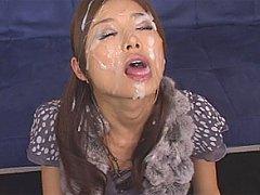 Japanese beauty Hara Sarasa is cum drunk