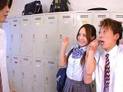 Yukina Momota Asian is caught undressing uniform a...