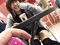 Yuzuki Hatano Asian takes panty off and rubs her p...