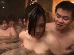 Japanese AV Model and babes have boobies fondled b...