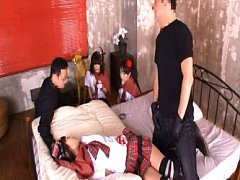 Japanese AV Model and gal in sexy outfits put vibr...