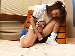 Aya Natsuki Asian in sports outfit has orgasm from...