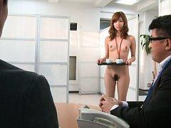 Miyuki Yokoyama Asian with nasty tits serves tea t...