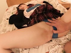Agasa Itou Asian has stockings ripped while is und...