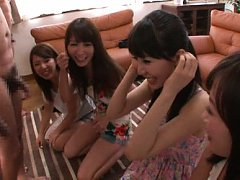 Rei Aimi Asian and babes are happy to have a cock...