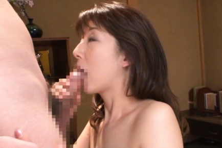 Sayuri Ikuina Asian has hairy pussy rubbed and suc...