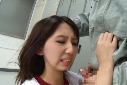 Sayaka Otonashi Asian has ass cheeks spread and ha...