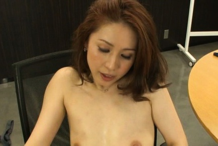 Yurie Matsushima Asian sucks shlong and gets in tw...