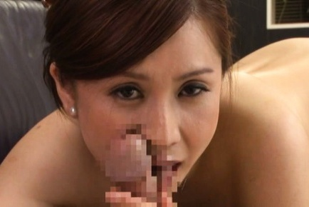 Yurie Matsushima Asian in stockings only licks bos...