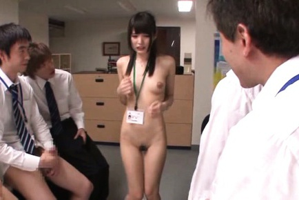 Mihono Sakaguchi Asian is undressed and has to suc...