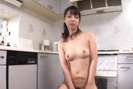 Sayuri Ikuina Asian rides cock after strong doggy...