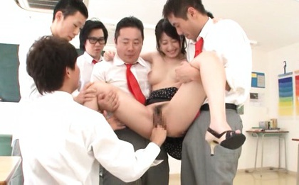 Arisa Misato Asian has boobs exposed and cunt fing...