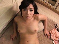 Ringo Aoi Asian with fine tits has shaved wet vagi...