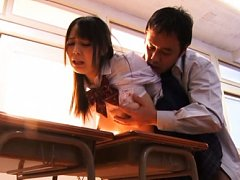 Ruka Kanae Asian with firm ass is kissed and fucke...