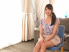 Rio Ogawa Asian with sexy legs in short skirt stro...