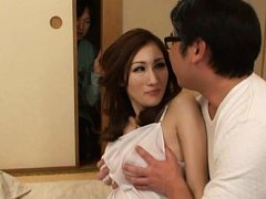 JULIA Asian doll is watched having huge boobs fond...