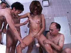Anna Anjo Asian has pussy rubbed with soap and fuc...