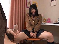 Satomi Nomiya Asian rubs twat in front of masturba...