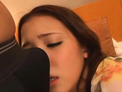 Teen Ayaka Tomoda is hot girl that blowjobs this p...