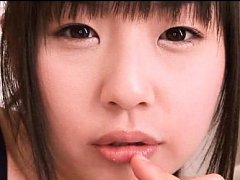 Tsubomi Asian chick in bath suit has pretty face a...