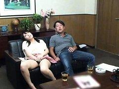 Japanese AV Model fondles her crack over panty nex...