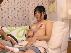 Kokoro Kawai Asian sucks vibrator she gets on her...