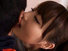 Azu Hoshitsuki Asian has slit touched on panty and...