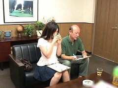 Japanese AV Model drinks alcohol to have courage a...