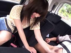 Rina Ooshima Asian is teased with vibrator and str...