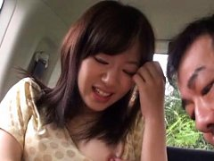 Rina Ooshima Asian is teased with vibrator on thon...