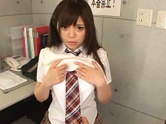 Rina Itou Asian comes to doctor in a very short un...