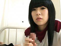 Rui Himesaki Asian has naughty attitude while stro...