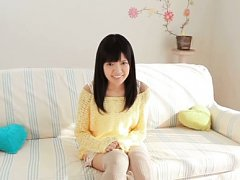 Kana Aono Asian playful and in long socks takes br...