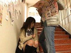 Japanese AV Model shows nasty behind under skirt o...