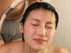 Rino Akane Asian with naughty hooters has hair was...