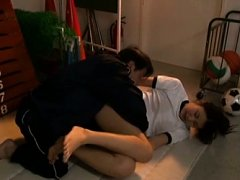 Rino Akane Asian has nooky eaten and licked over p...