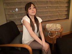 Miu Fujisawa Asian on heels has sexy legs touched...
