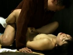 Japanese AV Model with dark erect nipples has poon...