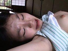 Marin Aono Asian with juicy bee stings has face li...