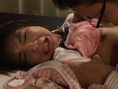 Koharu Aoi Asian in handcuffs and uniform has nipp...