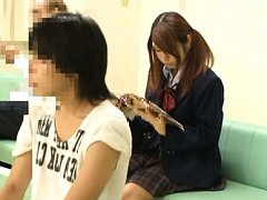 Japanese AV Model is touched on pussy over panty d...