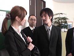 Reiko Sawamura Asian shows hot ass in panty to gro...