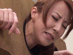 Reiko Sawamura Asian in sadistic machine gets fing...