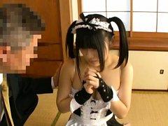 Japanese AV Model in kinky house keeper uniform ha...