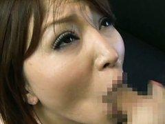 Yuki Tohma Asian sucks cock and fucks her asshole...